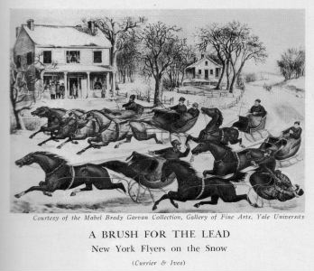 Currier and Ives Print