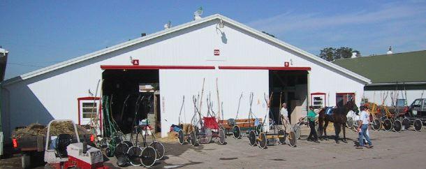 Racehorse Barn